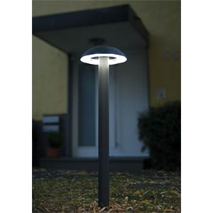 Standleuchte, 8,4 W, 310 lm, 4100 K, anthrazit, IP54 ECO LIGHT 2252 S-650 GR