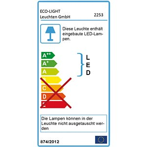 LED-Außenwandleuchte, Aluguss, anthrazit ECO LIGHT 2253 S GR