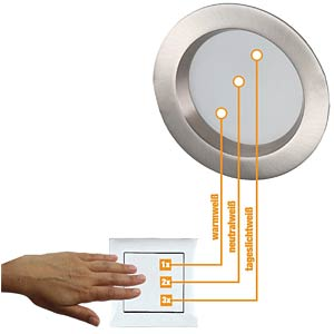 LED downlight HEITRONIC 23139