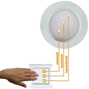 LED-Einbaustrahler, EEK A+ HEITRONIC 23141