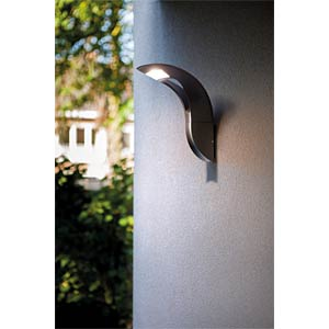 Wandleuchte, 18 W, 1040 lm, 4100 K, anthrazit, IP54 ECO LIGHT 2521 S GR