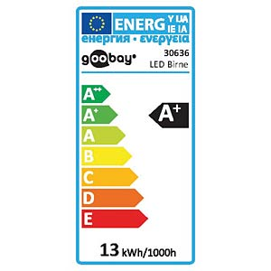 LED Birne, E27, 12 W, 1050 lm, ww, EEK A+ GOOBAY 30636