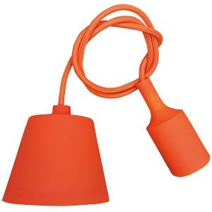 Lampenfassung Pendel, E27, Silikon, orange V-TAC 3484
