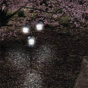 LED-Solarleuchte, Gartenleuchte, schwarz, IP44 HEITRONIC 35294