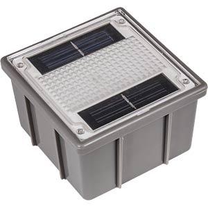 LED-Solarleuchte, Pflasterstein, 0,06 W, grau, IP44, GROUND 1 HEITRONIC 35381