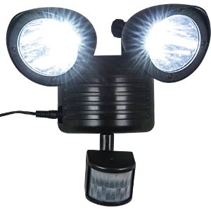 LED-Solarleuchte, Strahler, mit Bewegungsmelder, IP44, MARVIS HEITRONIC 35414