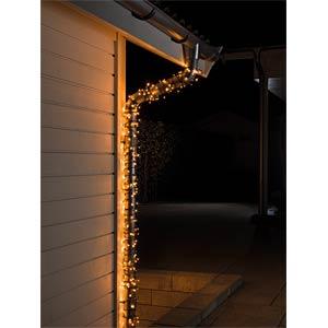 Micro LED Lichterkette, 40 bernsteinfarbene Dioden, 24V Außentra KONSTSMIDE 3610-800