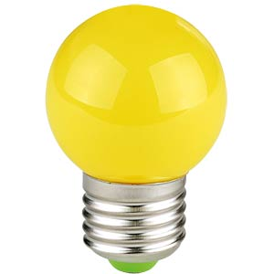 Decorative drop-shaped LED lamp, 1 W, yellow, TELESOUND 37-65713