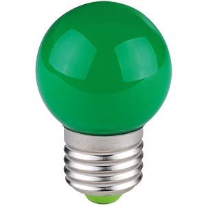 Deko-LED-Tropfenleuchtmittel, 1 W, grün, E27, EEK A TELESOUND 37-65714
