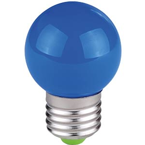 Decorative drop-shaped LED lamp, 1 W, blue, E27 TELESOUND
