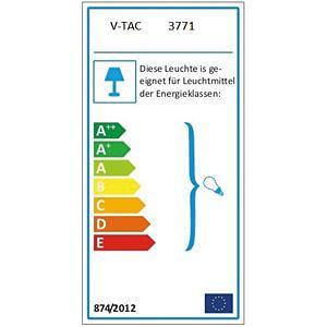 Hängeleuchte, 60 W, rund, transparent V-TAC 3771