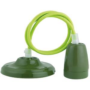 Lampenfassung Pendel, E27, Porzellan, grün V-TAC 3805