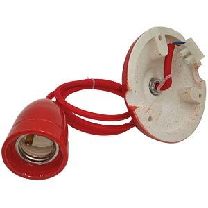 Lampenfassung Pendel, E27, Porzellan, rot V-TAC 3807