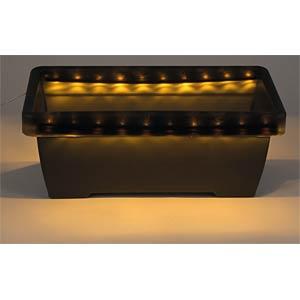 LED-Solarleuchte, Blumenkasten, schwarz, IP44 HEITRONIC 38227