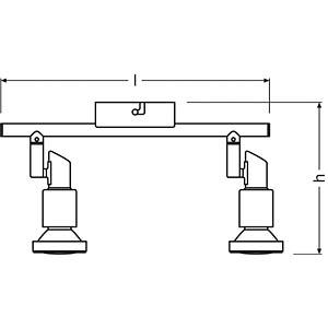 LED- Spot, grau, 2x3W, EEK A+ OSRAM 4052899393622