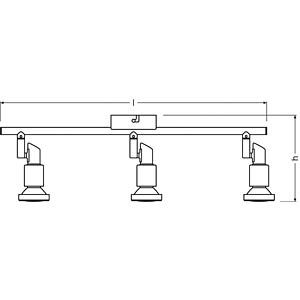 LED- Spot, grey, 3x3W OSRAM 4052899393783