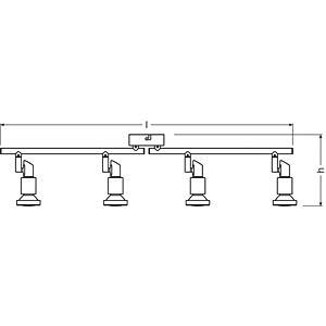 Deckenleuchte, 12 W, 960 lm, 2700 K, rund, silber OSRAM 4052899393806
