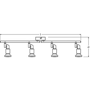LED- Spot, grau, 4x3W, EEK A+ OSRAM 4052899393806