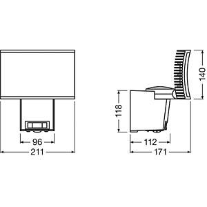 Noxlite- LED- Scheinwerfer, 40 W, grau OSRAM 4052899905610