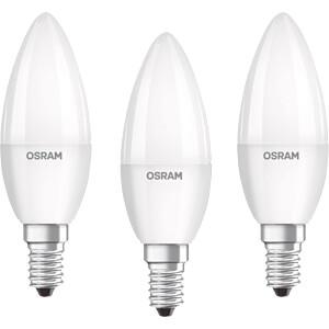 LED-Lampe BASE E14, 5 W, 470 lm, 4000 K, 3er-Pack OSRAM 4052899972674