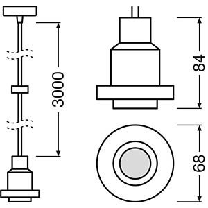 Lampenfassung VINTAGE 1906 PenduLum Pendel, E27, Alu, gold OSRAM 4058075003217
