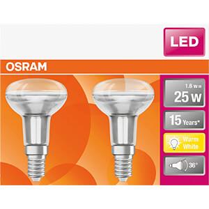 LED-Lampe STAR E14, 1,6 W, 110 lm, 2700 K, 2er-Pack OSRAM 4058075096820