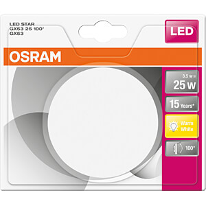 LED-Lampe STAR GX53, 2,9 W, 270 lm, 2700 K OSRAM 4058075105539