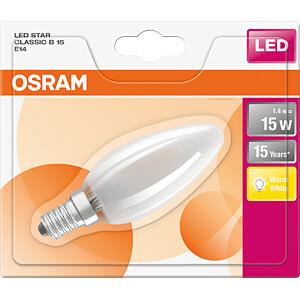 LED-Lampe STAR CLASSIC E14, 1,4 W, 250 lm, 2700 K, Filament OSRAM 4058075107106