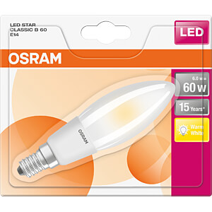 LED-Lampe STAR CLASSIC E14, 6 W, 806 lm, 2700 K, Filament OSRAM 4058075107724