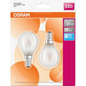 LED-Lampe STAR E14, 2,8 W, 250 lm, 4000 K, Filament, 2er-Pack OSRAM 4058075112117