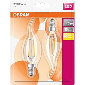 LED-Lampe STAR E14, 4 W, 470 lm, 4000 K, Filament, 2er-Pack OSRAM 4058075114791