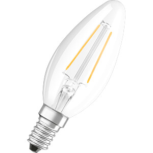 LED-Lampe E14, 2,8 W, 250 lm, 2700 K, Filament BELLALUX 4058075115255