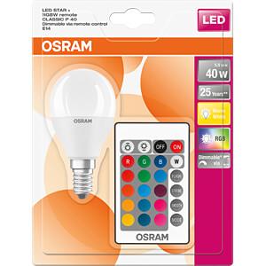 LED-Lampe STAR+ E14, 5,5 W, 470 lm, 2700 K + RGB, dimmbar OSRAM 4058075144385