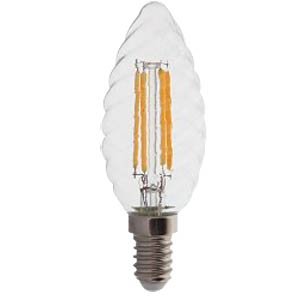 LED Bulb - 4W Filament E14 Twist Candle Warm White V-TAC 4307
