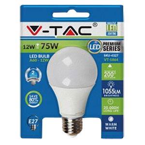 LED Bulb 12W, E27, A60, Warm White V-TAC 4327