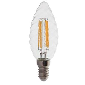 LED E14, 4W, WW, Filament, Kerze, dimmbar, EEK A+ V-TAC 4367