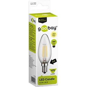 Goobay Filament-LED Kerze, 4 W, EEK A+ GOOBAY 44246