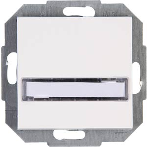 Rocker switch, with title area, HK07 pure white KOPP 492029000