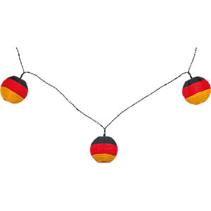 LED German flag string lights, battery-operated GOOBAY 55605