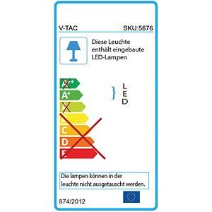 LED-Flutlichtstrahler - 20 W, weiß, 3000K, EEK A+ V-TAC 5789