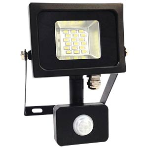 LED-Floodlight with motion sensor - 10 W, black, 3000 K V-TAC 5723