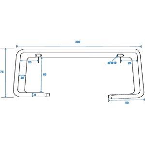 C-Haken, für Ø 50 mm Rohr, TCH-50/20, silber EUROLITE 58000655