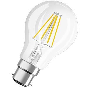 LED-Lampe Retrofit, B22d, 4 W, 470 lm, 2700 K, 107 mm OSRAM 4052899961715