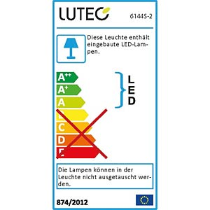 LED-Außenwandleuchte, Aluguss, anthrazit ECO LIGHT 6144 S-2 GR