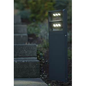 Standleuchte, 18 W, 1210 lm, 4100 K, anthrazit, IP65 ECO LIGHT 6146 S-2-616 GR