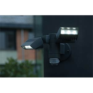 Wandleuchte, 20 W, 2100 lm, 4100 K, anthrazit, IP54 ECO LIGHT 6156-PIR GR