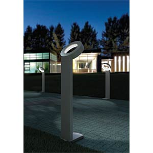 Wandleuchte, 14 W, 800 lm, 3000 K, anthrazit, IP54 ECO LIGHT 6164 S GR