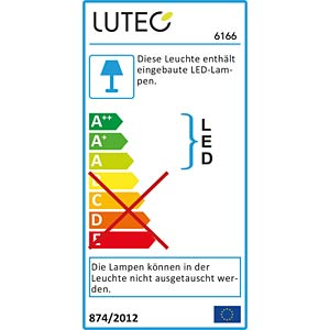 LED-Außenwandleuchte, Aluguss, anthrazit ECO LIGHT 6166 GR