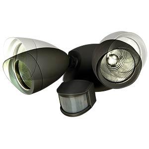 Wandleuchte, 22 W, 1380 lm, 4100 K, schwarz, IP54 ECO LIGHT 6219 A-PIR BL