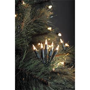LED Minilichterkette, 50 warm weiße Dioden, 230V, Innen, grünes KONSTSMIDE 6303-100
